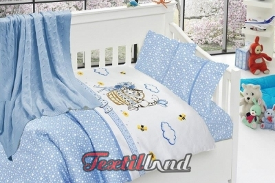 Детское постельное белье  Bambu Bebek Kitty Mavi