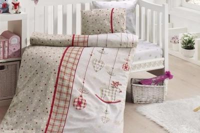 Детское постельное белье  Bambu Bebek Palmy Kırmızı