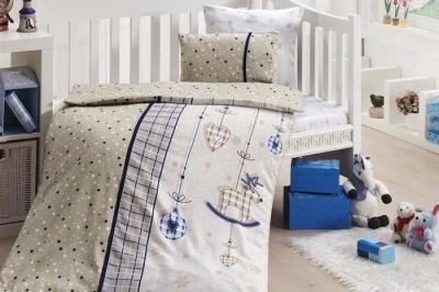 Детское постельное белье  Bambu Bebek Palmy Lacivert