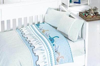 Детское постельное белье  Bambu Bebek Ginny Mavi