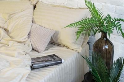 Двухспальный комплект  сатин страйп  Viluta