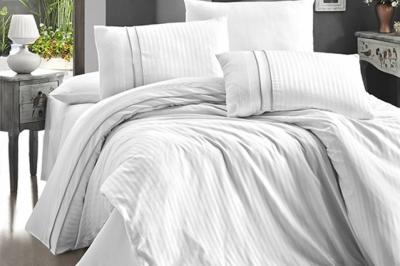 Евро комплект постельного белья Satin Deluxe  Beyaz (DLX-101)