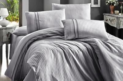 Полуторный  комплект постельного белья Satin Deluxe  Gri (DLX-131)