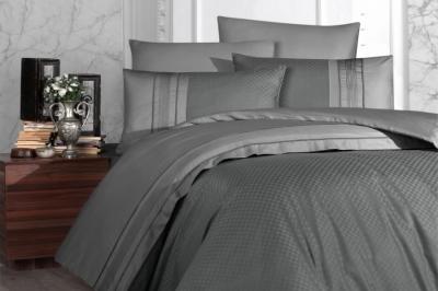 Евро комплект постельного белья Satin Deluxe   Füme (DLX-31)