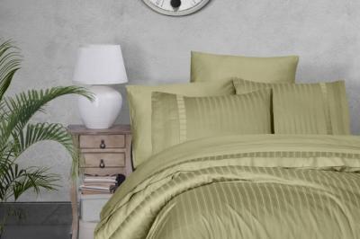 Евро комплект постельного белья Satin Deluxe  Square Duet Yeşili  (DLX-51 )