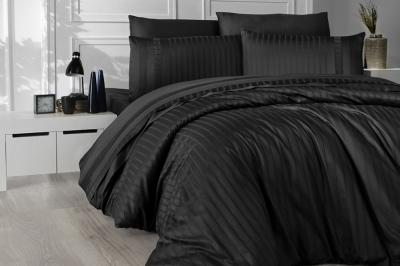 Евро комплект постельного белья Satin Deluxe  Siyah (DLX-61 )
