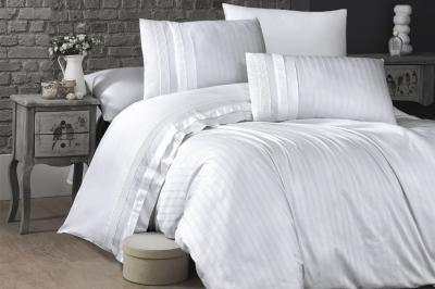Евро комплект постельного белья Satin Deluxe  Beyaz (DLX-71)