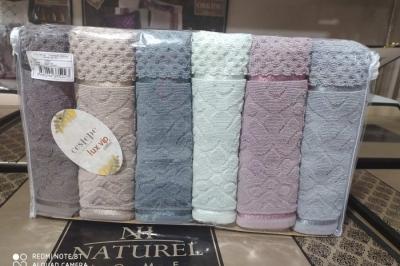 Набор махровых полотенец Cestepe  Lux VIP Coton( 6 шт)137